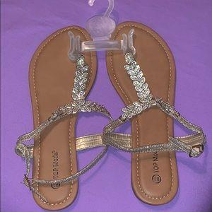 Glittered Sandals - Never Worn